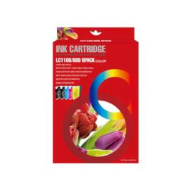 Multipack Brother LC1100XL LC980XL LC985XL 5 Cartucho de Tinta Compatible