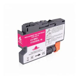 Cartucho de Tinta Brother LC-3235XL LC-3233 Compatible Magenta