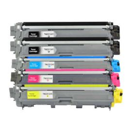 Pack 5 Cartuchos de Toner Brother TN-241 + TN-245 Compatible