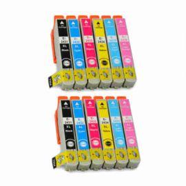 Compatible Epson 24XL Pack 12 Cartucho de Tinta Genericos