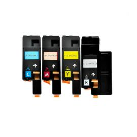 Compatible Epson C1700 CX17 Pack 4 Colores Toner Cartucho Genérico