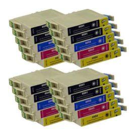 Pack 20 Cartucho de Tinta Compatible Epson T0551 T0552 T0553 T0554