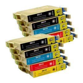Pack 10 Cartucho de Tinta Epson T0615 Compatible