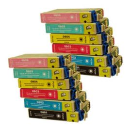 Pack 12 Cartucho de Tinta Epson T0807 Compatible
