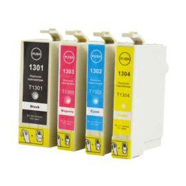 Pack 4 Colores Cartucho de Tinta Compatible Epson T1301 T1302 T1303 T1304