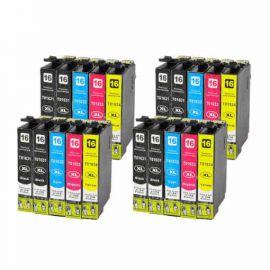 Pack 20 Cartuchos de Tinta Epson T1635 Compatible (16XL)