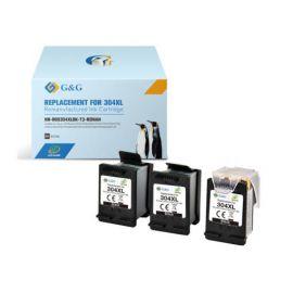 G&G HP 304XL V3 Remanufacturado Multipack 3 Cartuchos de Tinta ECO-SAVER Negro