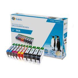 Compatible G&G HP 364XL Pack 10 Cartucho de Tinta Generico
