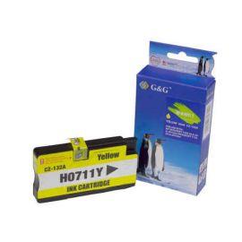 Compatible G&G HP 711XL Cartucho de Tinta Generico Amarillo CZ132A