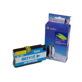 Compatible G&G HP 711XL Cartucho de Tinta Generico Cian CZ130A