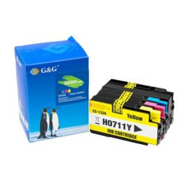 Compatible G&G HP 711XL Pack 4 Colores Cartucho de Tinta Generico