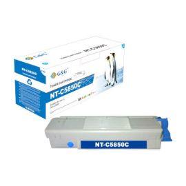 Compatible G&G OKI C5850 C5950 MC560 Toner Generico Cian