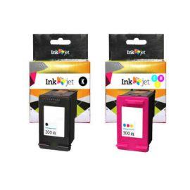Remanufacturado HP 300XL Pack Cartucho de Tinta Generico Negro + Tricolor