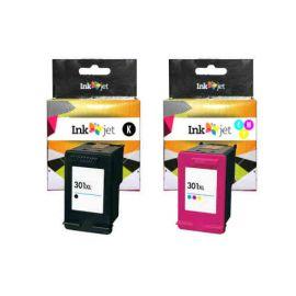 Remanufacturado HP 301XL MultiPack Cartucho de Tinta Generico Negro + Tricolor