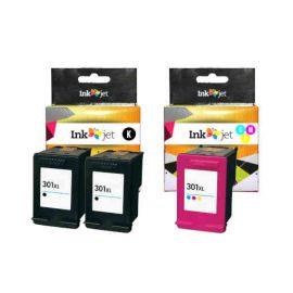 Remanufacturado HP 301XL Multipack 2 Negro + Tricolor Cartucho de Tinta Generico