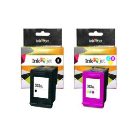 Remanufacturado HP 302XL V3 Multipack Negro + Tricolor Cartuchos de Tinta Generico