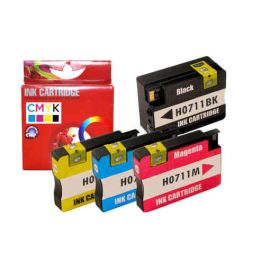 Compatible HP 711XL Pack 4 Colores Cartucho de Tinta Generico