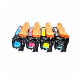 Compatible HP CE260X CE261A CE262A CE263A Pack 4 Colores Toner Generico