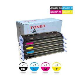 HP Q6000A Q6001A Q6002A Q6003A Toner Pack 4 Colores