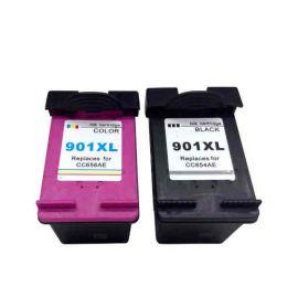 MultiPack Cartucho de Tinta HP 901XL Negro + Tricolor Remanufacturado