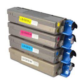 OKI C610 Toner Genérico Pack 4 Colores