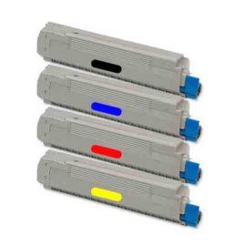 OKI C8600 C8800 Toner Genérico Pack 4 Colores