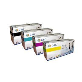 Pack 4 Colores Toner G&G Compatible Epson C1700 CX17 Cartucho Genérico